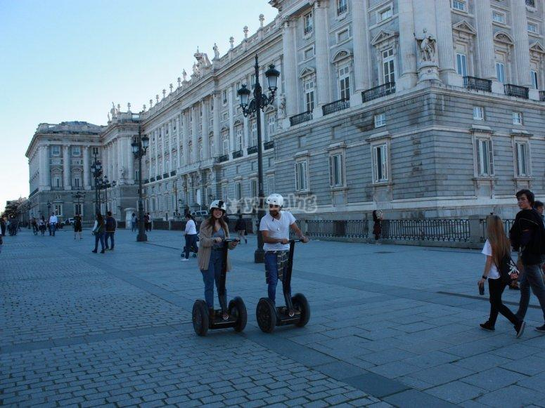 Segways in front of the Royal Palace