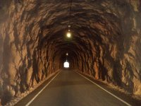Numerous tunnels
