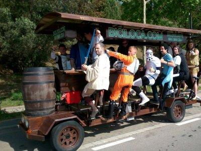 Beer Bike a Barcellona: 1 litro di birra a persona