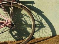 La rueda de una de nuestras bicicletas