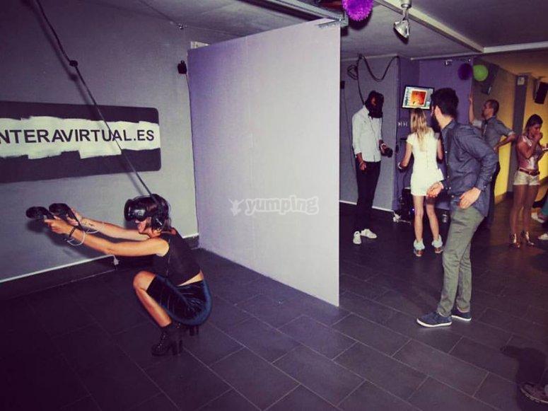 Participantes de realidad virtual