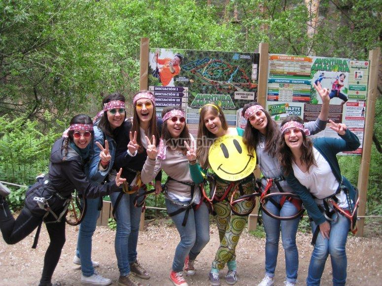 Parco avventura a Cercedilla, Plan with Friends