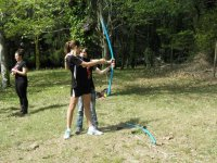 Archery with students