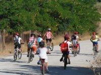 Ciclismo con los ninos