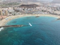 Flying by helicopter over Canaria