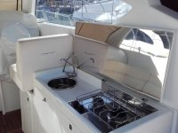 Cocina dentro del barco