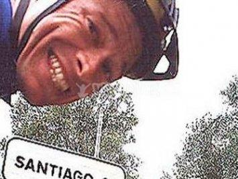 Ranimiro realizando el Camino de Santiago