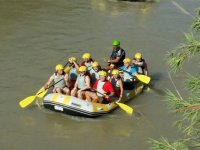 Rafting in the Murcian river