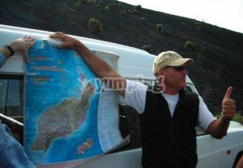 El guía Marcelo Espino antes de empezar la ruta