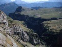 Vista aerea cañon de Añisclo