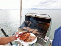 Barbacoa en el barco