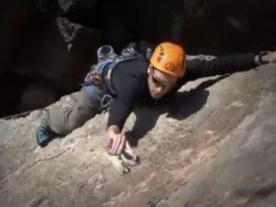 Sport climbing session in Lanjarón