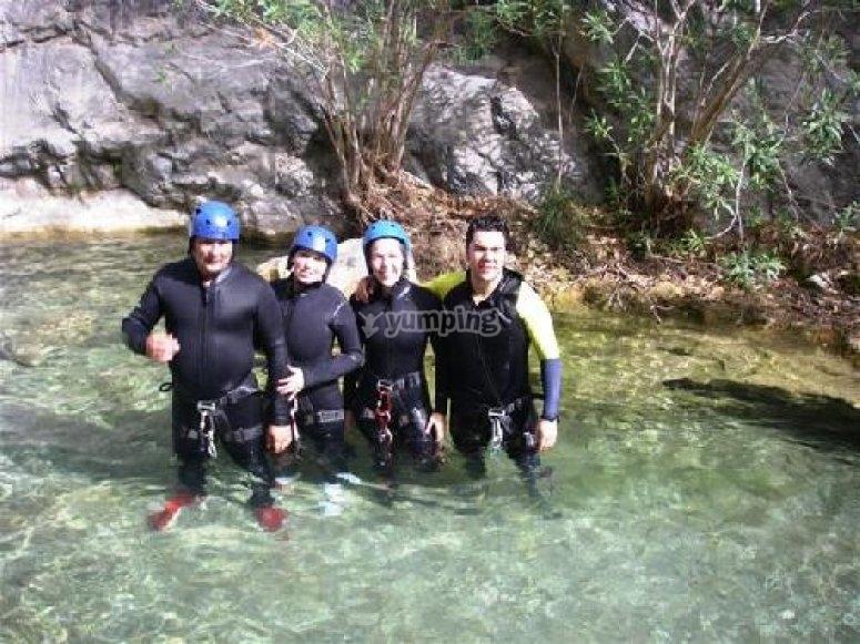 Group canyoning photo