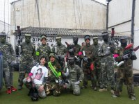 Male farewell playing paintball