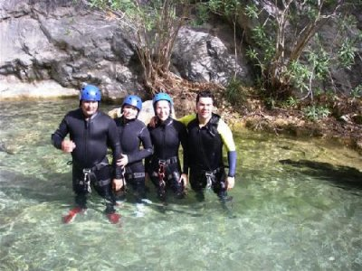 Canyoning in the Bermejo River, Granada