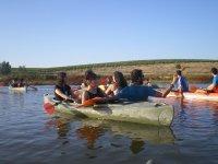 Paseando en la canoa