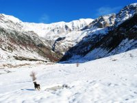 Snowshoes through Ordesa