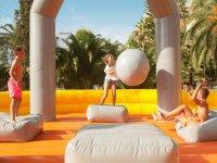 Pushing the giant ball