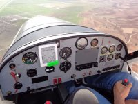 At the controls of an ultralight