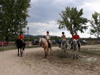 Group in the equestrian center of Orense