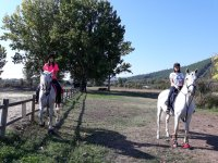 Leaving the route on horseback through Galicia