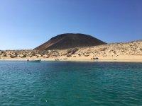 Viendo la costa de Teguise