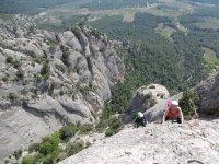 Escalada sobre los valles