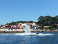 Flyboard in front of the yacht club