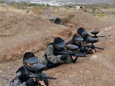 Paintball with equipment and 100 balls Almería