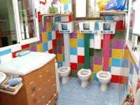El baño de los pequeños