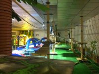 Indoor zip line circuit