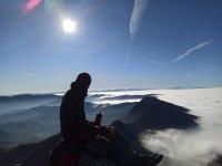 En la cima de Anboto