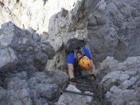 Vía ferrata en Dolomitas