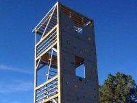 Multiadventure tower of climbing wall