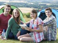 Chicos de acampada