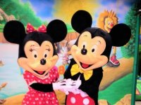 Mickey y Minnie sonriendo
