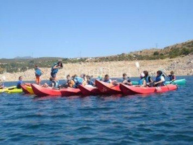 Una excursión en kayaks
