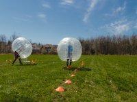 Partido de bubble soccer