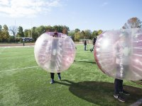 Farewell with bubble football