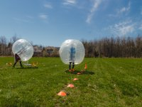 Bubble soccer match