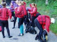 preparando per il rafting