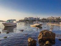 Barcos amarrados en Menorca