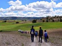 Caminando hacia la sierra