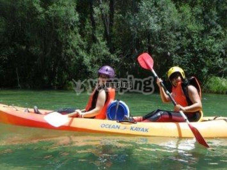 Descenso del Tajo en kayaks