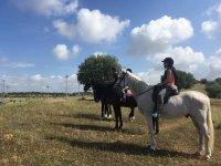 Mirando al horizonte desde el caballo