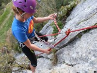 Rappel with machard knot
