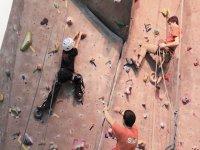 Climbing on climbing walls
