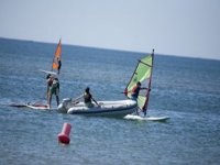 Practice windsurfing in our school