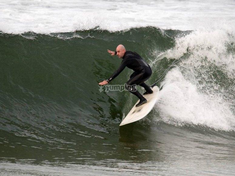 Desde los 10 años surfeando