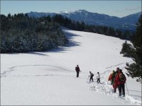 Snowshoeing with children